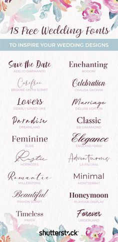 ✨Making your own #weddinginvitations with these free #wedding #fonts.✨
