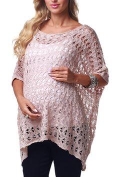 Blush Pink Knit Maternity Sweater