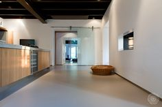 "Senso resin flooring: ""The floor is soft to walk on, elastic, warm to the touch. Easy to clean as well, as it is waterproof."""