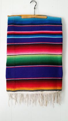 Vintage Mexican Saltillo Blanket Handwoven Blanket by iloveyoumore