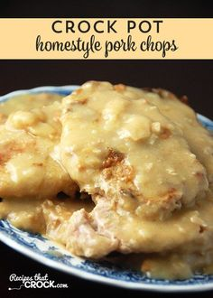 If you love pork chops with gravy, you have to try these Crock Pot Homestyle Pork Chops. Yum!