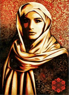 Art painting for an Arab woman