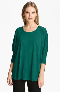 Eileen Fisher Silk & Cotton Jersey Top available at #Nordstrom