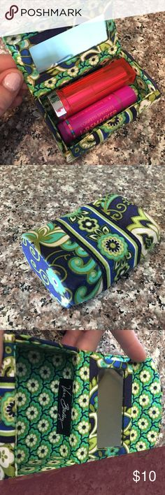 Vera Bradley lipstick case VB lipstick case! Magnetic closure. Mini mirror on inside for makeup application! Perfect for your purse to keep your lipsticks from rolling around and opening! Vera Bradley Makeup