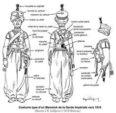 Dettagli dell'uniforme dei mammalucchi