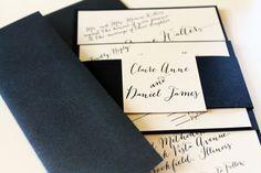 Modern, black and white invitation script for wedding |  DivaGoneDomestic.com