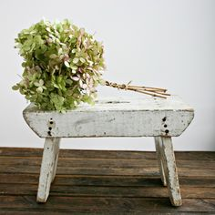 Small Antique Stool or Bench/I must get Grandma's bench from Rita's garage!!!