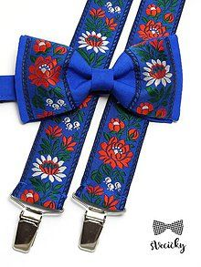 Doplnky - Folkový set traky a motýlik Jesenský - 6939861_ Accessories, Jewelry Accessories