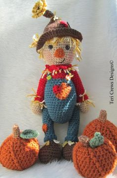 (4) Name: 'Crocheting : Simply Cute Scarecrow Crochet Pattern by $4.95