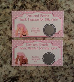 20 Pink and Pearls Scratch Off Tickets
