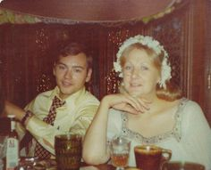 THIS IS MY OMOM AND POPPY, THE DAY OF THEIR WEDDING. IT IS MY FAVORITE PICTURE OF THE TWO OF THEM... <3