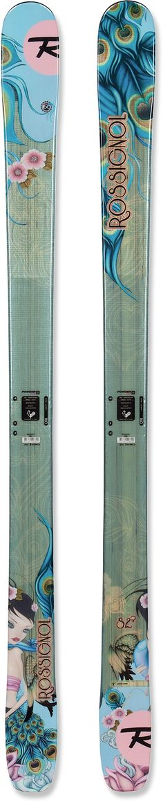 The Rossignol Sassy 7 women's skis float through powder, plow through crud and cruise the groomed runs.