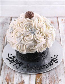Awe Inspiring Bakery Happy Anniversary Giant Cupcake Cupcake Cakes Giant Personalised Birthday Cards Sponlily Jamesorg
