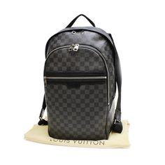 Louis Vuitton Michael Damier Graphite Backpacks Black Canvas N58024