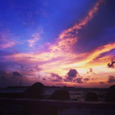 Sunset villingili view
