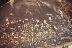 art that rocks | At Newspaper Rock mounted horse glyphs are a useful indicator of ...