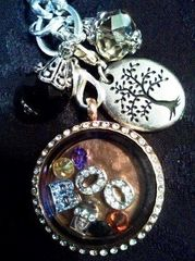 Halloween Locket :)  B O O , accent stones and candy bar!