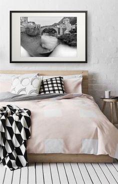 Mostar papírkép kerettel Bed, Furniture, Home Decor, Decoration Home, Stream Bed, Room Decor, Home Furnishings, Beds, Home Interior Design