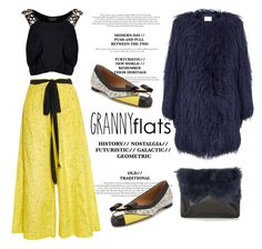 """""""Granny Flats"""" by junglover ❤ liked on Polyvore featuring Salvatore Ferragamo, Proenza Schouler, Louis Vuitton, EAST, Topshop, women's clothing, women's fashion, women, female and woman"""