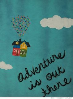 Adventure is out there- cute saying for kids room wall
