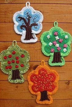 Potholder or nice home decor? Home decor! #potholder #crochet