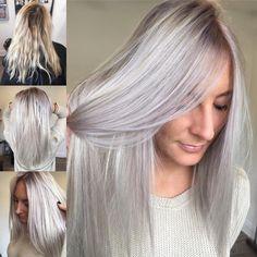 Cool Blonde, Ash Blonde, Blonde Balayage, Blonde Hair, Ash Hair, Silver Blonde, Hair Color And Cut, Hair Designs, Closer