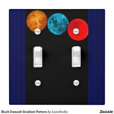 Fantasy Sky Window Double Toggle Switch Plate