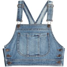 Moschino Denim Crop Top (2 620 SEK) ❤ liked on Polyvore featuring tops, crop top, blue, moschino, blue top, form fitting tops and moschino top