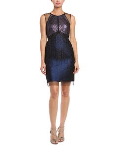 Phoebe Couture Midnight Metallic Illusion Accent Dress is on Rue. $129.99