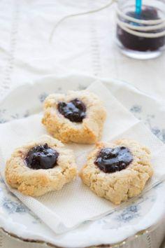 Flourless Thumbprint Tea Cookies