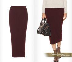 бордовая юбка карандаш фото с чем носить