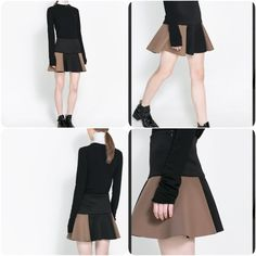 💥Sale💥Zara black two tone mini skirt Brand New without tag. Paid $89.99+tax. Never get a chance to wear. So decided to sell.   🚫NO TRADES‼️ 🚫NO LOWBALLING ‼️ ✅ships same day or next day Zara Skirts Mini