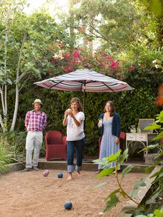 Wish we could play bocce in our backyard! #patio