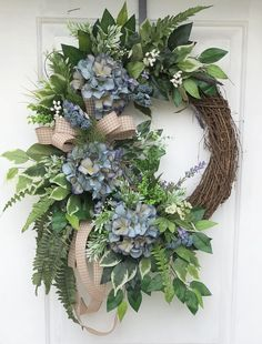 Spring and summer wreath, Hydrangea Wreath, Everyday Wreath, Spring Wreath, Summer Wreath, Grapevine Wreath, Sassy Door Wreath, Front Door