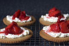 strawberry ricotta graham tartlets | smittenkitchen.com