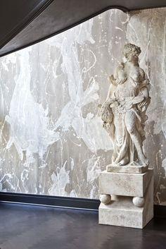 KELLY WEARSTLER | INTERIORS. Evergreen Residence, Grand Stairway statue