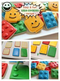 Recipe of Fun: Easy Lego Cookies for Memorable Parties. Thinking of - A Slice of Homeschool Pie. We made with Madhava Organic Coconut Sugar Ninjago Party, Lego Birthday Party, 6th Birthday Parties, Boy Birthday, Birthday Cakes, Birthday Ideas, Lego Batman Party, Superhero Cake, Lego Friends Party