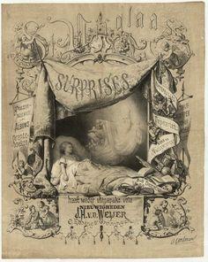 Reclameprent van de Boekhandelaar J.H. v.d. Weijer