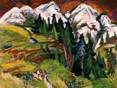Ernst Ludwig Kirchner - Paysage sur le Staffelalp.