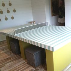 Another view of the coastal living ultimate beach house ping pong table