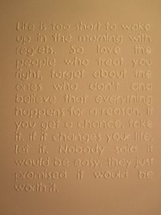 Inspirational 3D Quote on Canvas Life is too short by SubtleWords, $15.00