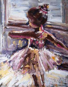 """Saatchi Online Artist: Ina Shtukar; Acrylic 2013 Painting """"Ballerina"""""""