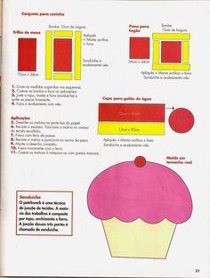 Resultado de imagem para molde patchwork ensinado passo a passo comofazer jogo de cozinha banheiro