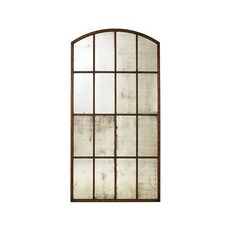 Ballard Designs Amiel Arch Aged Brown Antiqued Mirror Aged Brown ($679) ❤ liked on Polyvore featuring home, home decor, mirrors, ballard designs, brown mirror, weathered mirror, distressed mirror and brown home decor