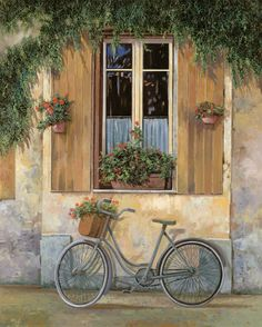 """""""La Bici"""" by Guido Borelli (beautiful painting)"""