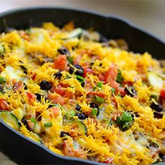 One skillet means easy preparation and minimal clean-up, which makes this Cheesy Skillet Bean and Veggie Taco Meal a weeknight favorite!
