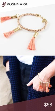 Delia Bracelet- Coral The perfect go to bracelet for spicing up any outfit! Wear solo or layer with chunky pieces for a flirty and fun look! Half United Jewelry Bracelets