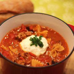 Spicy Lasagna Soup | Ready Set Eat