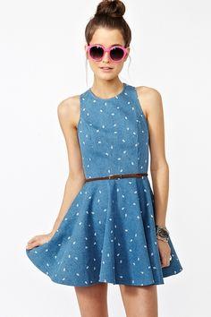 cute denim summer dress #nastygal