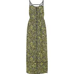 Lime tribal print strappy maxi dress £15.00